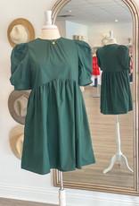 en saison Poplin Babydoll Dress