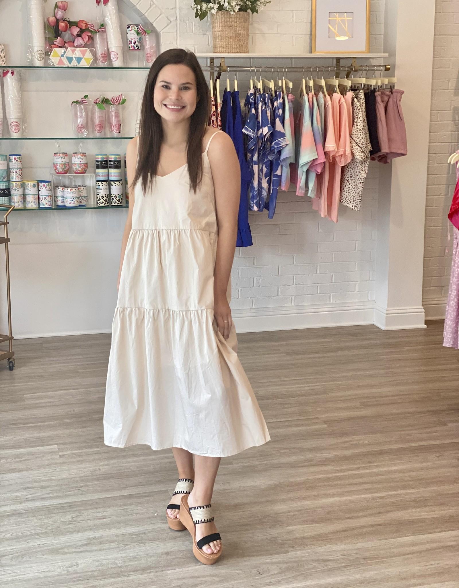 Desert Tan Midi Dress