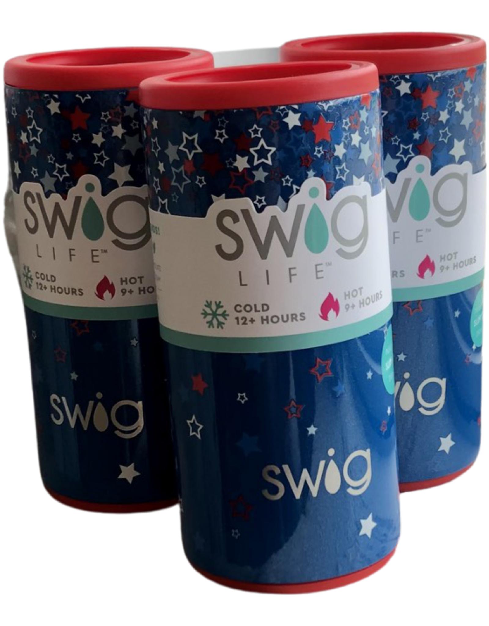 Swig 12 oz Skinny Can Koozie Star Burst