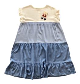 Shannon Colorblock Dress Blue