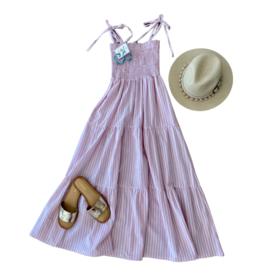 Annie Stripe Midi Dress