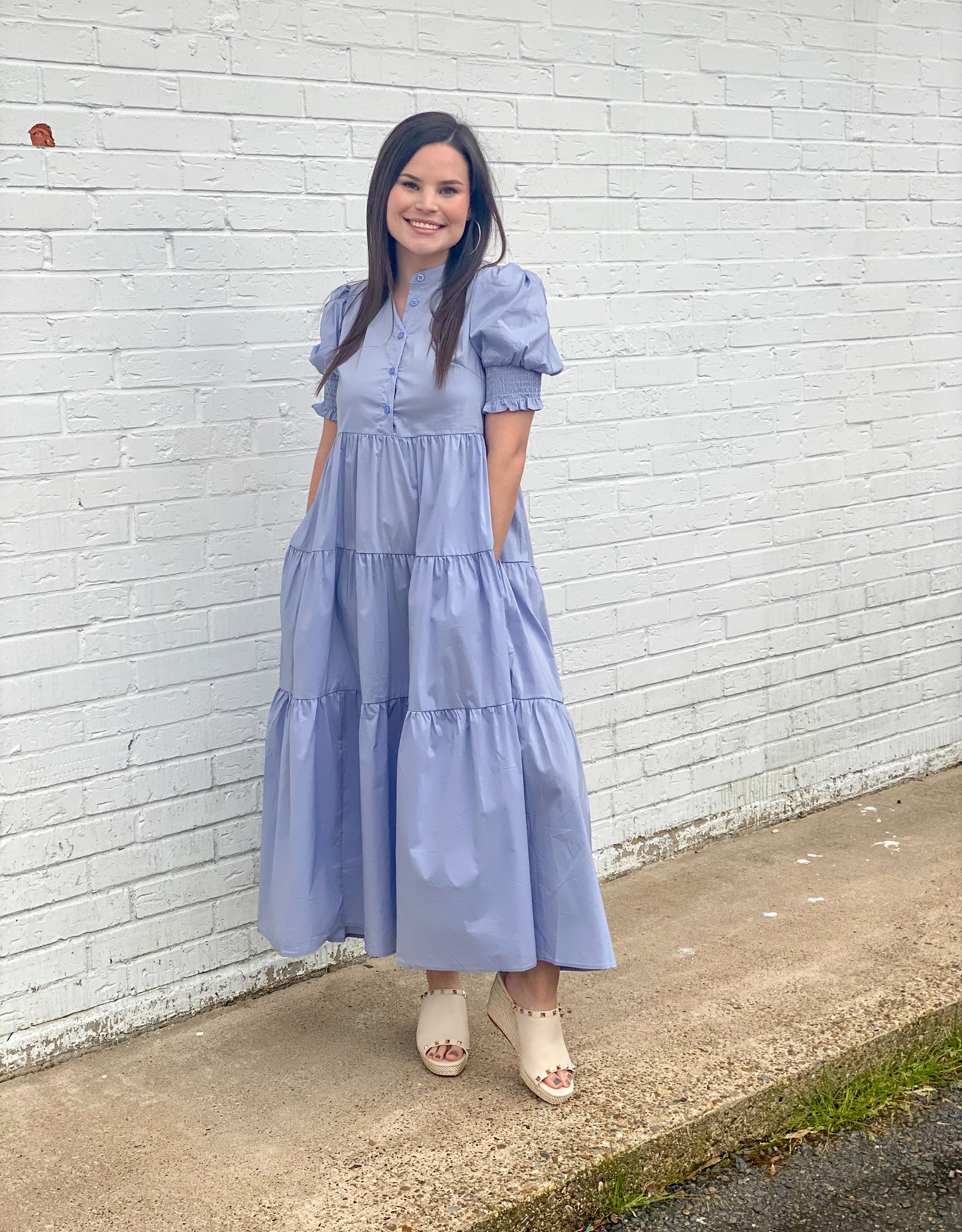 Periwinkle Perfection Midi Dress