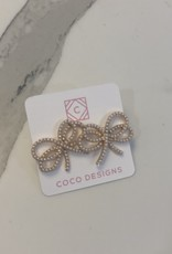 Coco Designs Pearl Bow Earrings