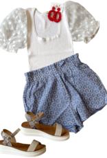 Eyelet Blue Shorts