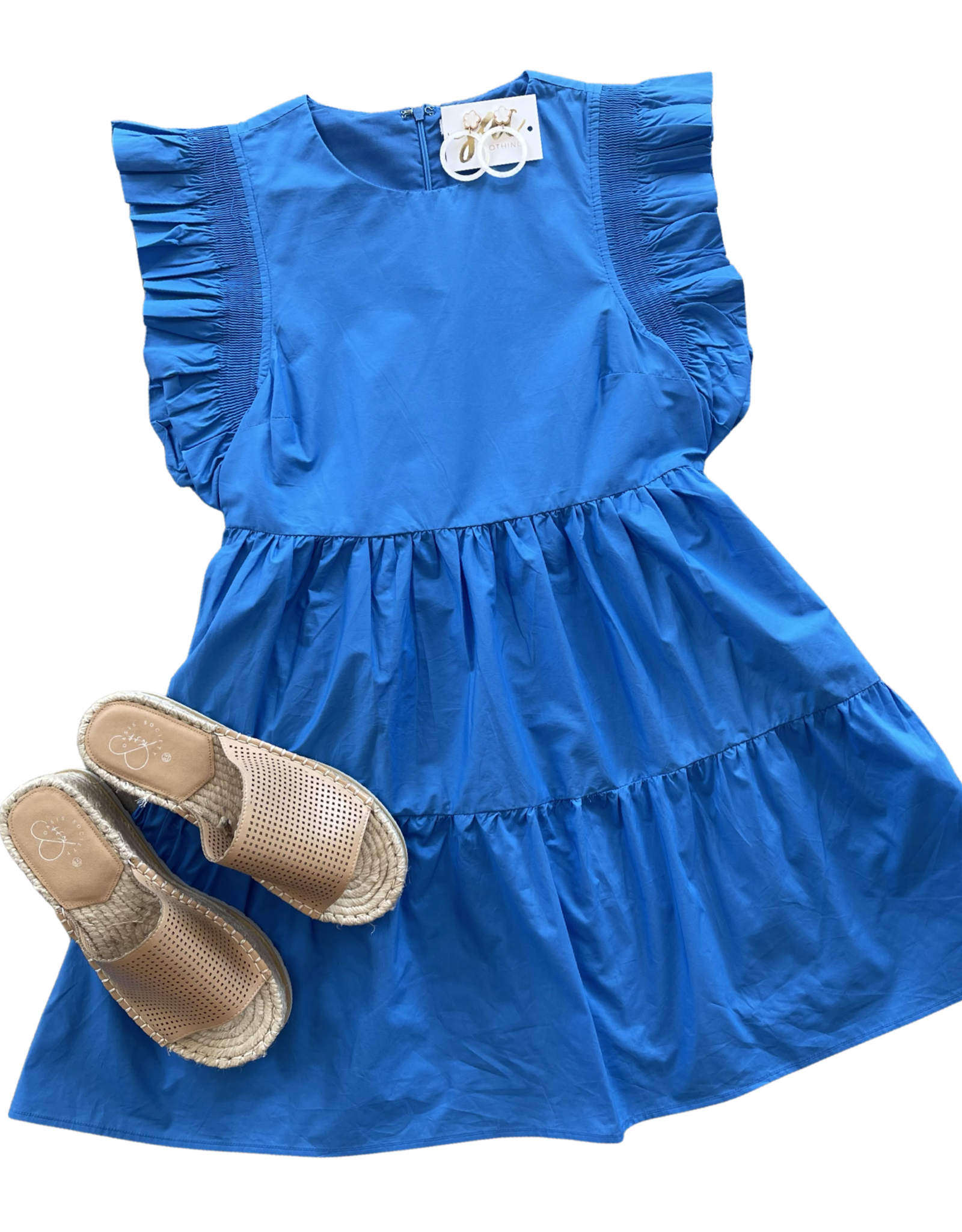 english factory Gotta Be Blue Dress
