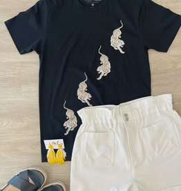 lotus fashion Go Tigers Go Tee Black
