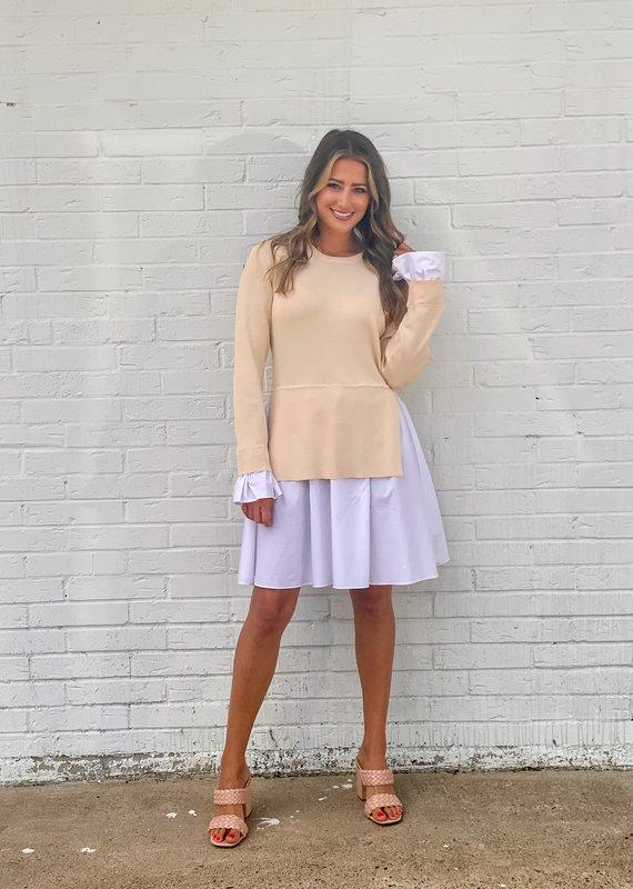 english factory Poplin Knit Dress