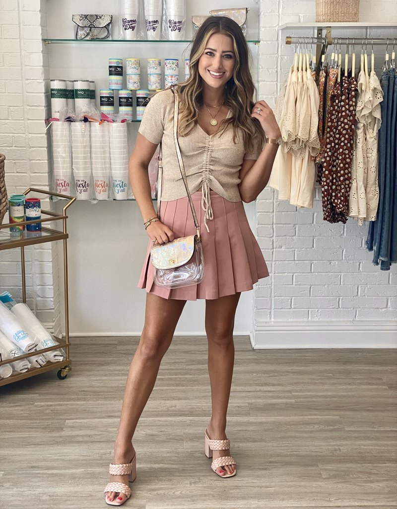 english factory Just Playing The Game Skirt