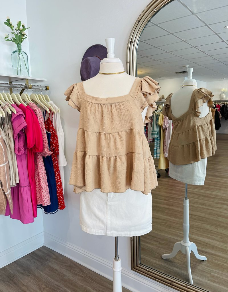 emory park Babydoll Tiered Top