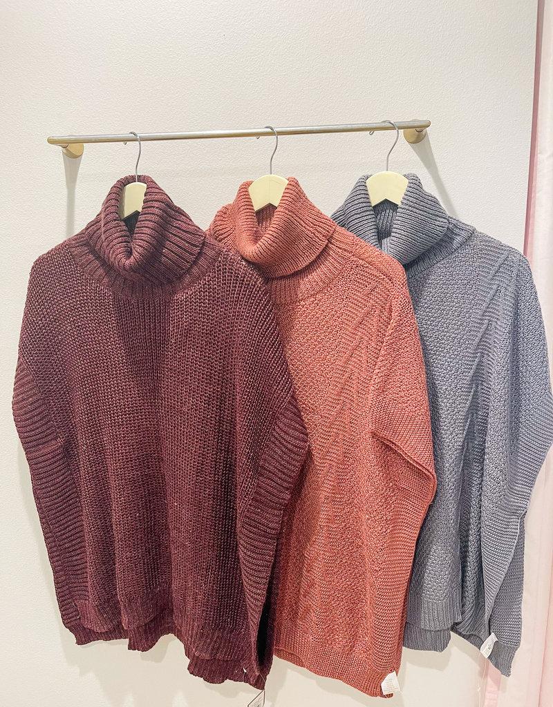 Aurora Cowl Neck Sweater O/S