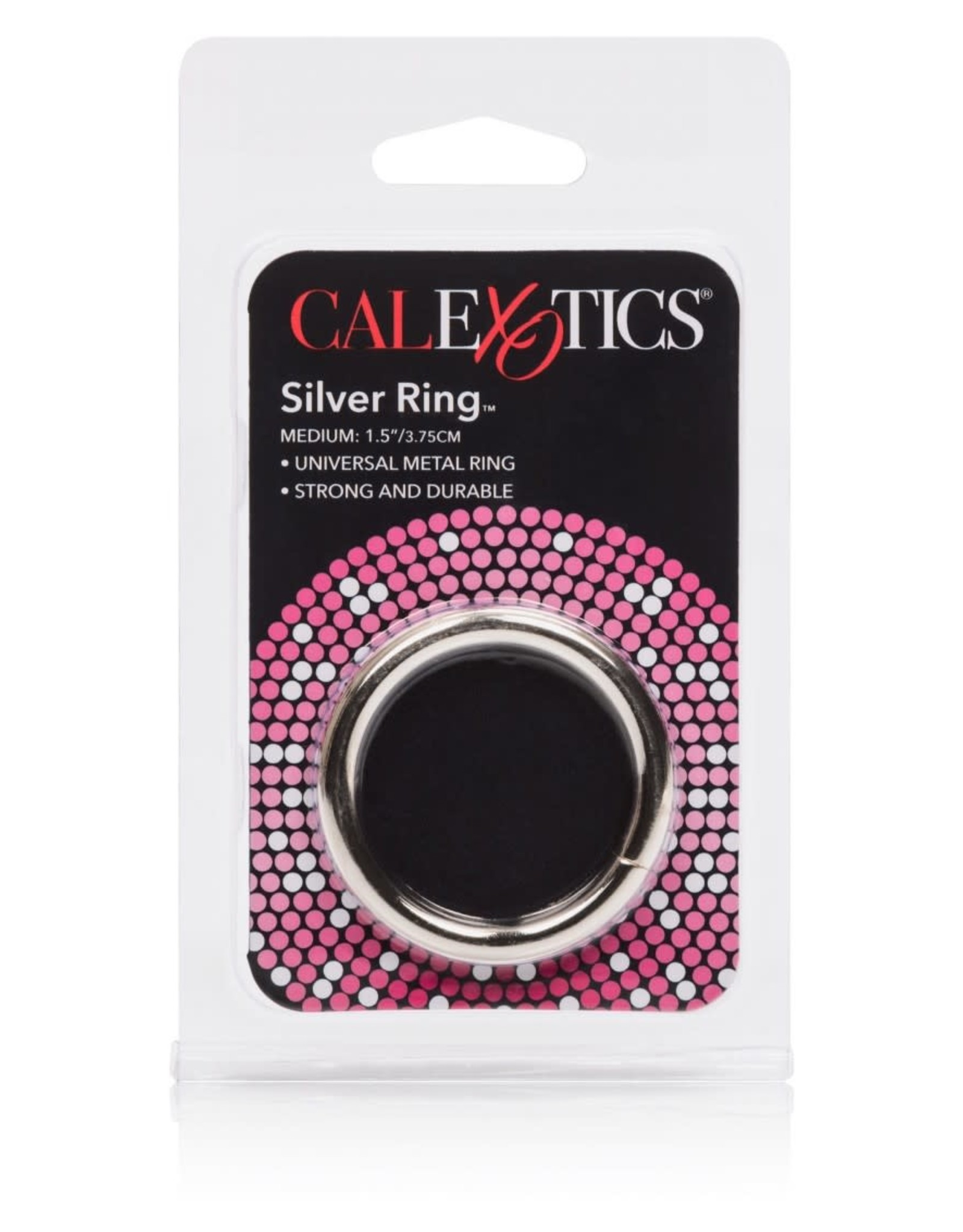 "CALEXOTICS - ALLOY METALLIC RING - MEDIUM 1.5""X3.75CM"