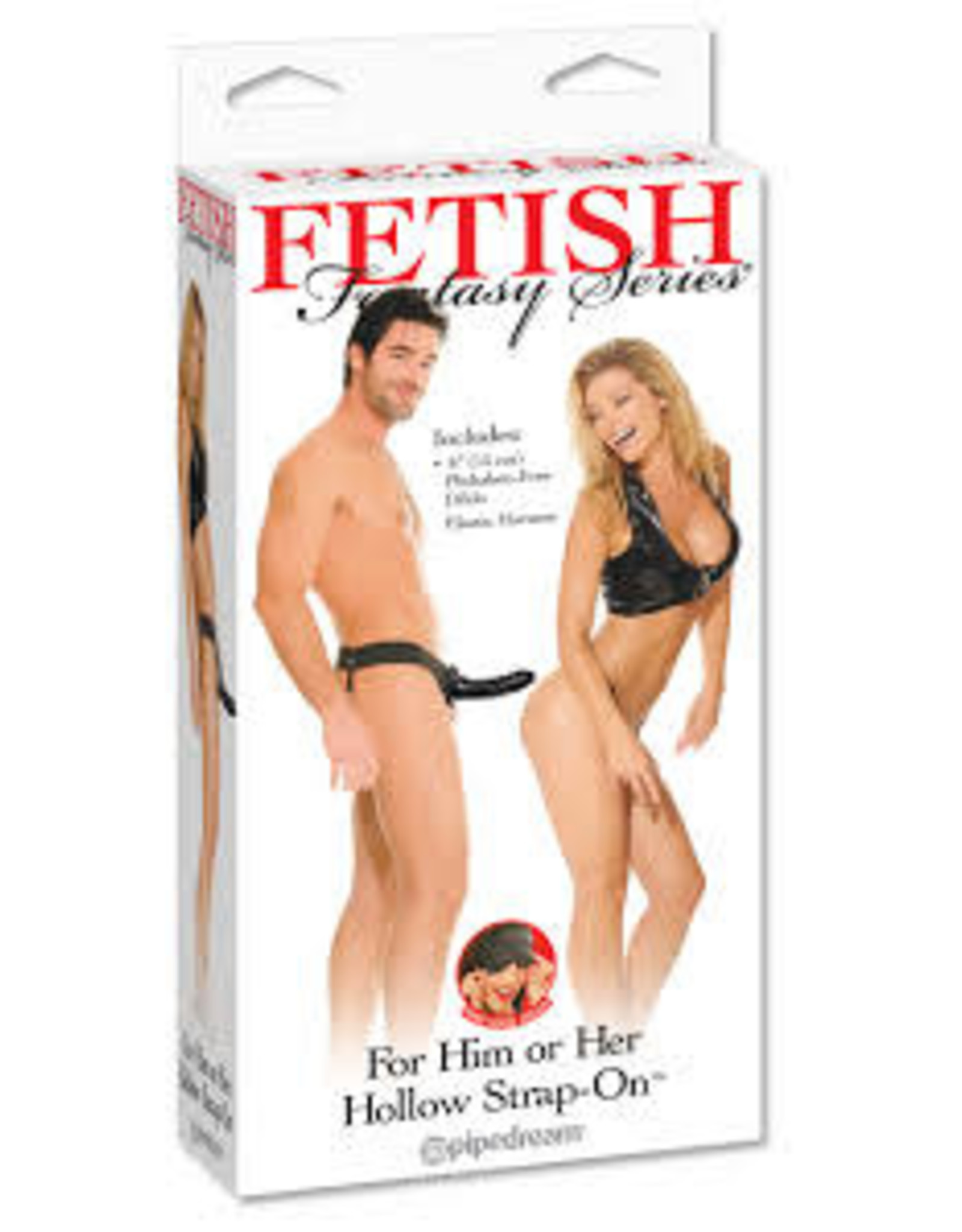FETISH FANTASY HOLLOW STRAP-ON HIM OR HER - BLACK