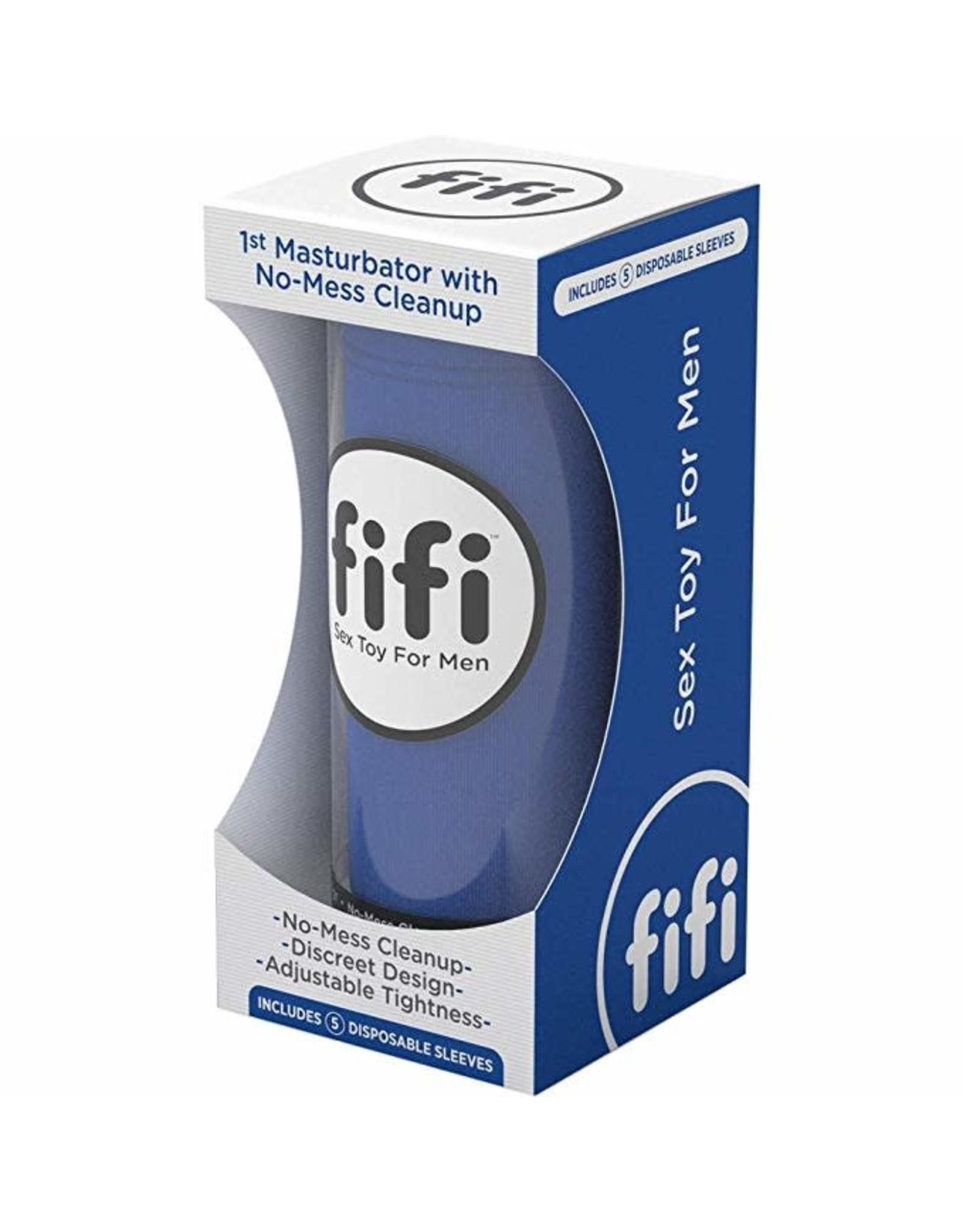 FIFI - NO-MESS STROKER - BLUE