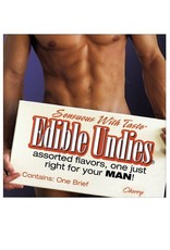 EDIBLE UNDIES MALE STRAW/CHOCOLATE