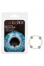 CALEXOTICS CALEXOTICS - STEEL BEADED SILICONE RING - LARGE