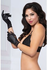 SEVEN TIL MIDNIGHT LOVE AND OTHER GLOVES IN LAM & LACE  -ONE SIZE