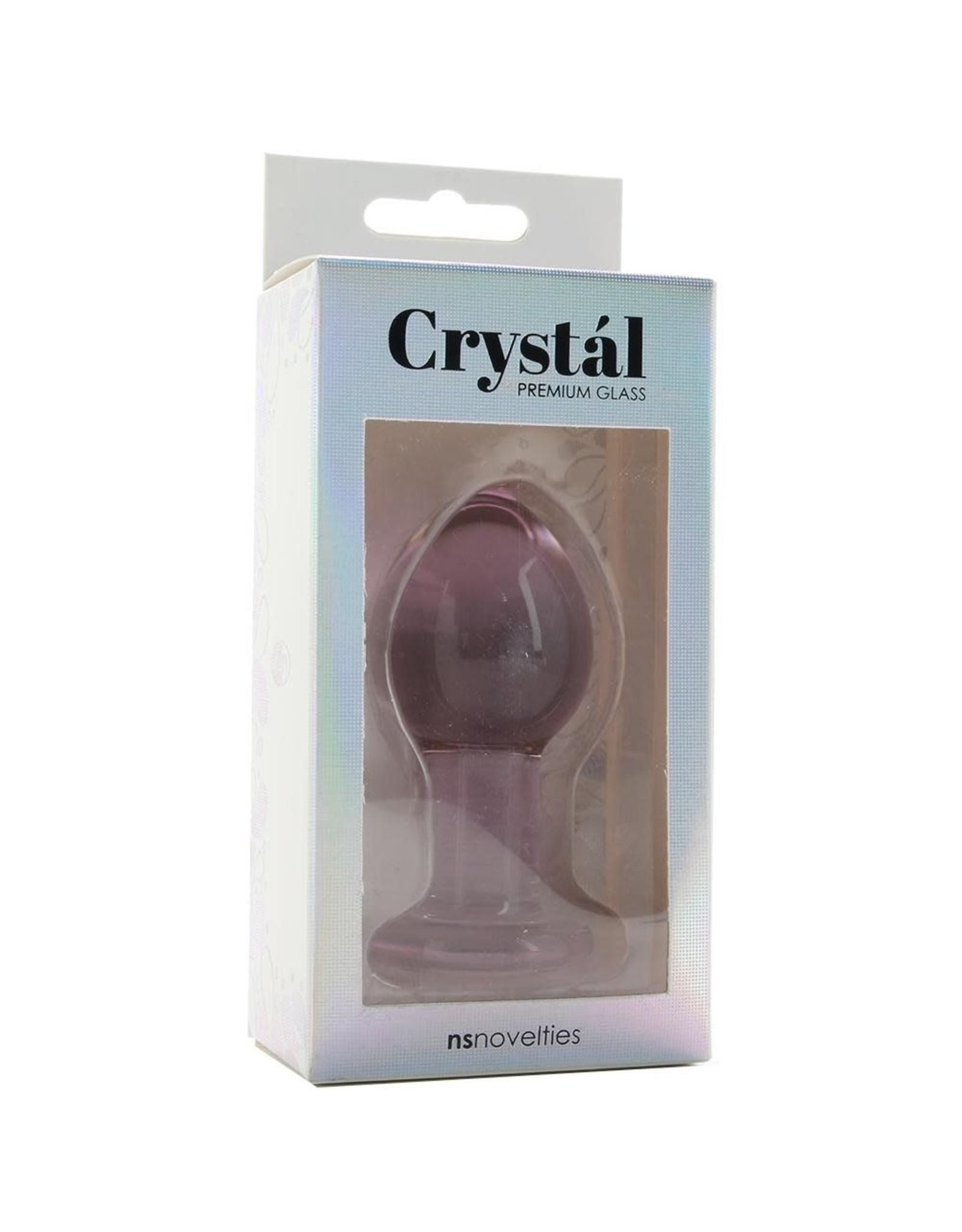 NS - CRYSTAL PREMIUM GLASS PLUG - MEDUIM - PURPLE