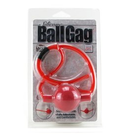 CALEXOTICS - SILICONE BALL GAG - RED