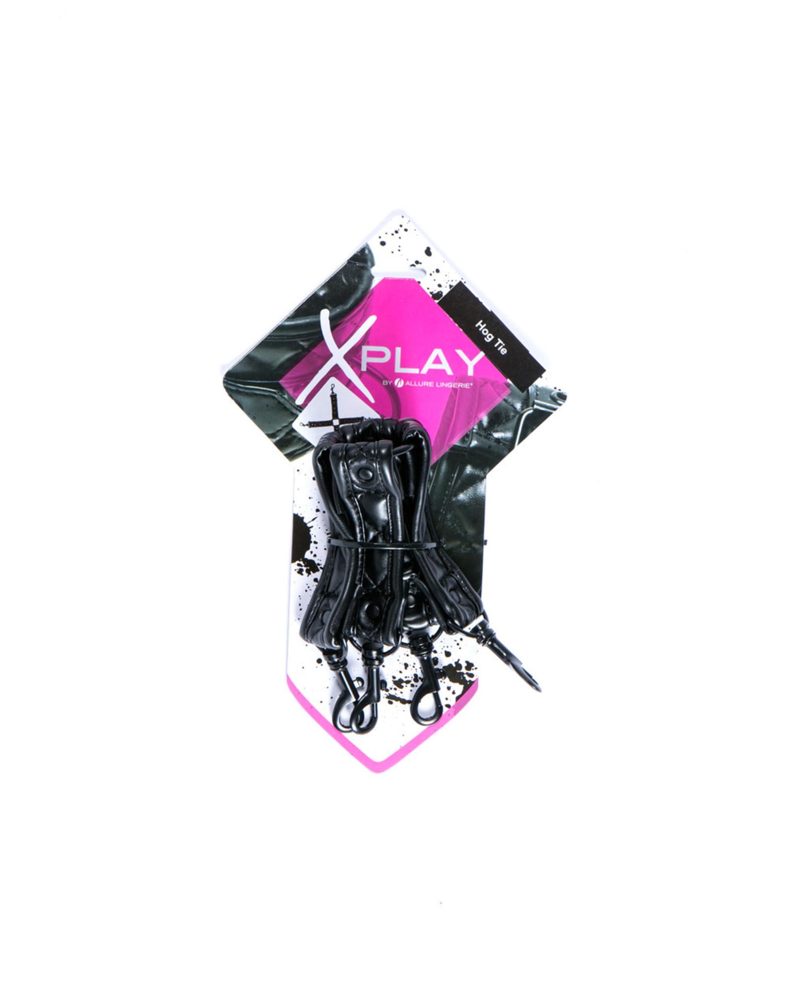 ALLURE LINGERIE XPLAY - HOG TIE - BLACK