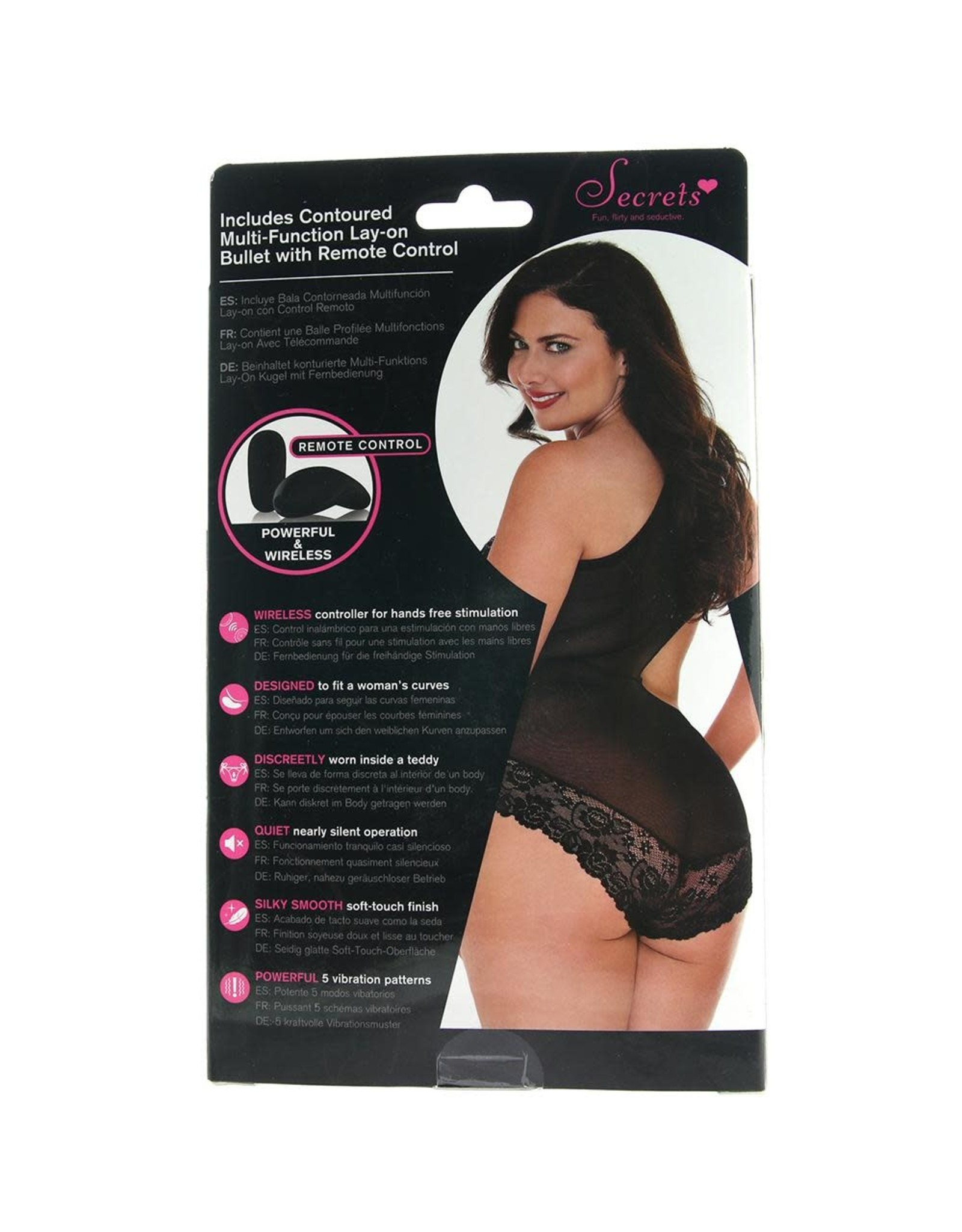 REMOTE VIBRATING LACE AND MESH OFFSET TEDDY OSXL