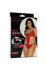 STRAPPY RED LACE REMOTE VIBRATING TEDDY OSXL