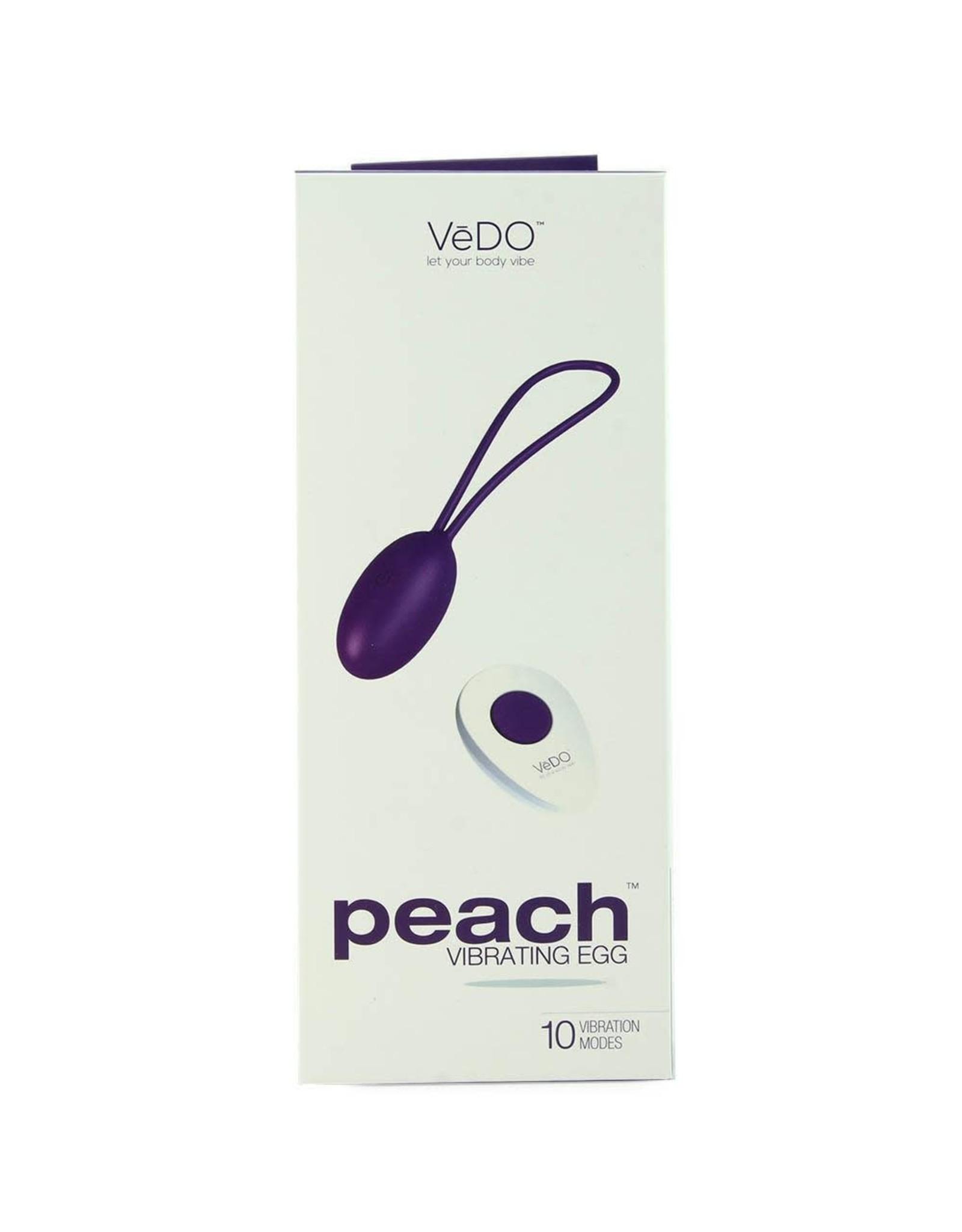 VEDO - PEACH REMOTE VIBRATING EGG - IN TO YOU INDIGO