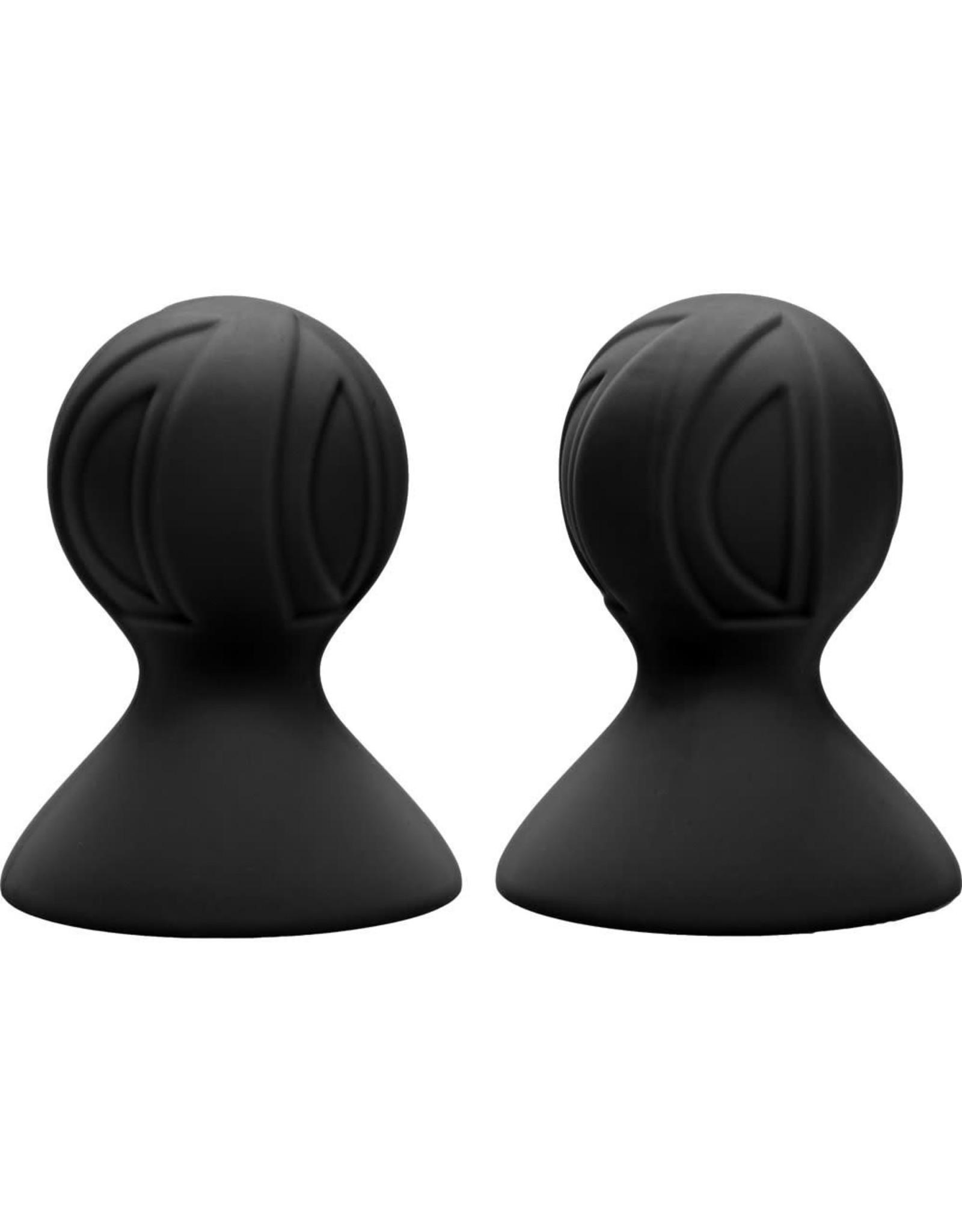 CALEXOTICS CALEXOTICS - NIPPLE PLAY - SILICONE PRO NIPPLE SUCKERS - BLACK