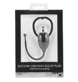 OUCH! - SILICONE VIBRATING BULLET PLUG -  URETHRAL SOUND