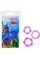 CALEXOTICS CALEXOTICS - SILICONE ISLAND RINGS - PINK