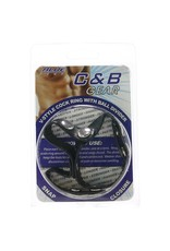 BLUE LINE - C&B GEAR - V-STYLE COCK RING W/ BALL DIVIDER