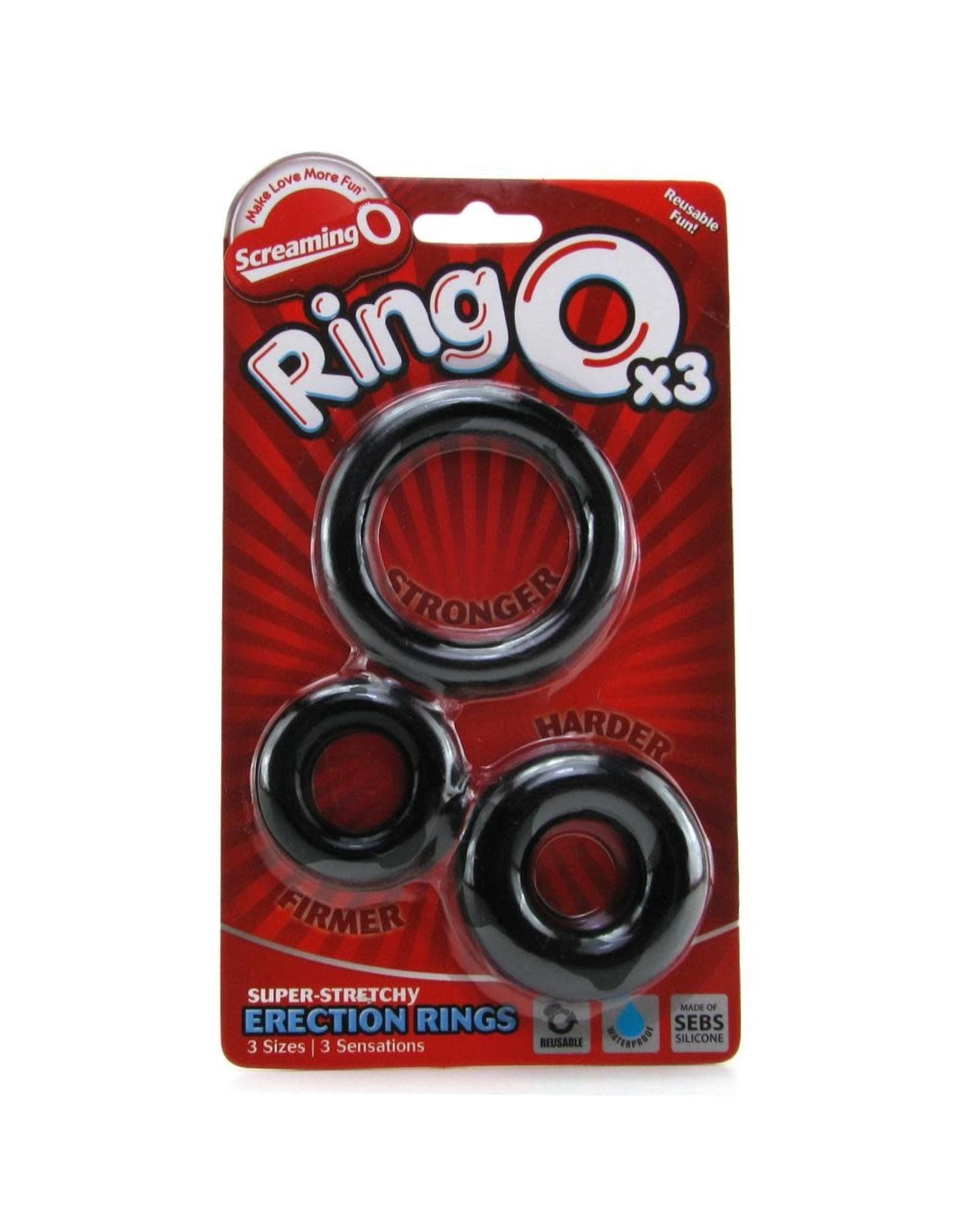 SCREAMING O SCREAMING O - RING OX3 - 3 PACK - BLACK
