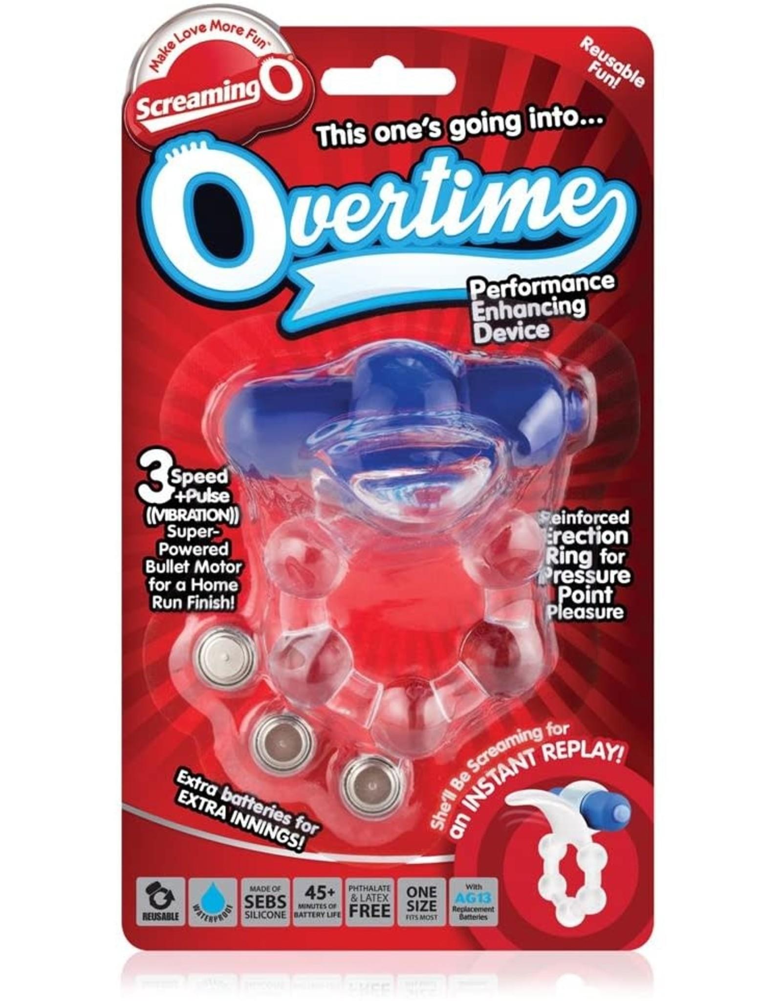 SCREAMING O SCREAMING O - OVERTIME - BLUE/CLEAR