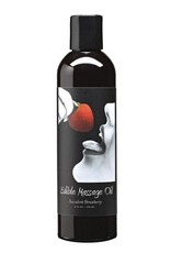 EARTHLY BODY - EDIBLE MASSAGE OIL - SUCCULENT STRAWBERRY - 8OZ