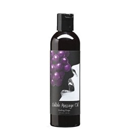 EARTHLY BODY - EDIBLE MASSAGE OIL - GUSHING GRAPE 8OZ