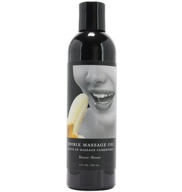 EARTHLY BODY - EDIBLE MASSAGE OIL - BANANA 8OZ