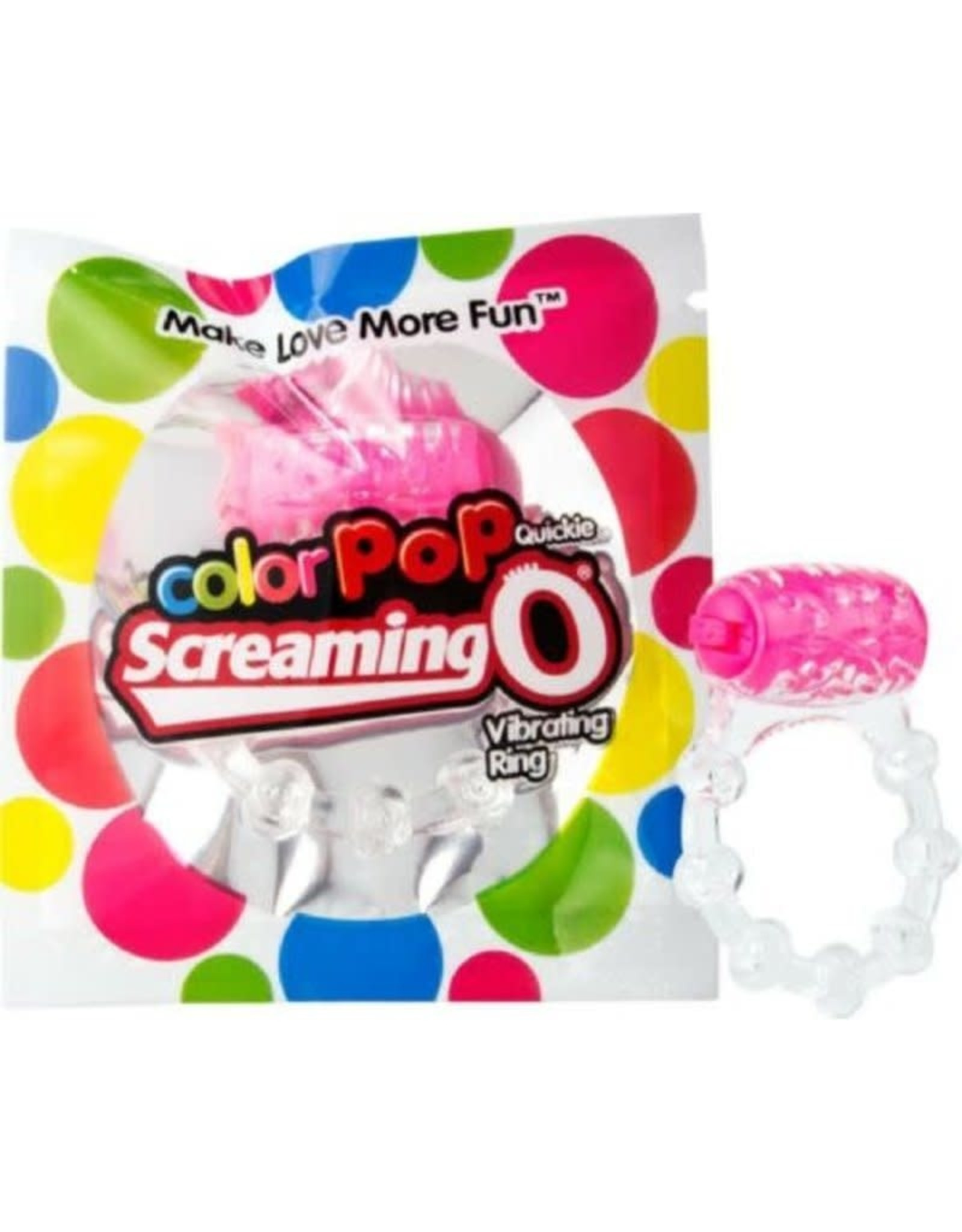 SCREAMING O SCREAMING O - COLOR POP QUICKIE VIBE RING - PINK
