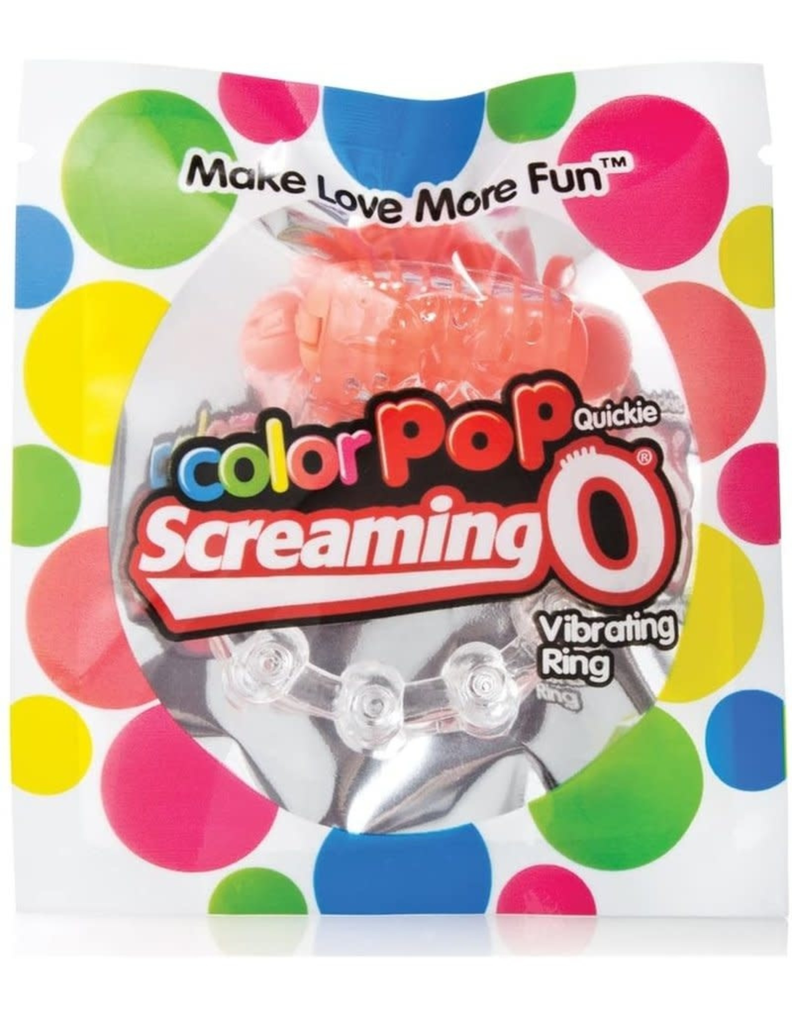 SCREAMING O - COLOR POP QUICKIE VIBE RING - ORANGE