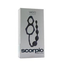VEDO VEDO - SCORPIO COCK & BALL RING WITH ANAL CHAIN - JUST BLACK
