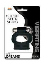 WET DREAMS - SUPER STUD SLING - BLACK