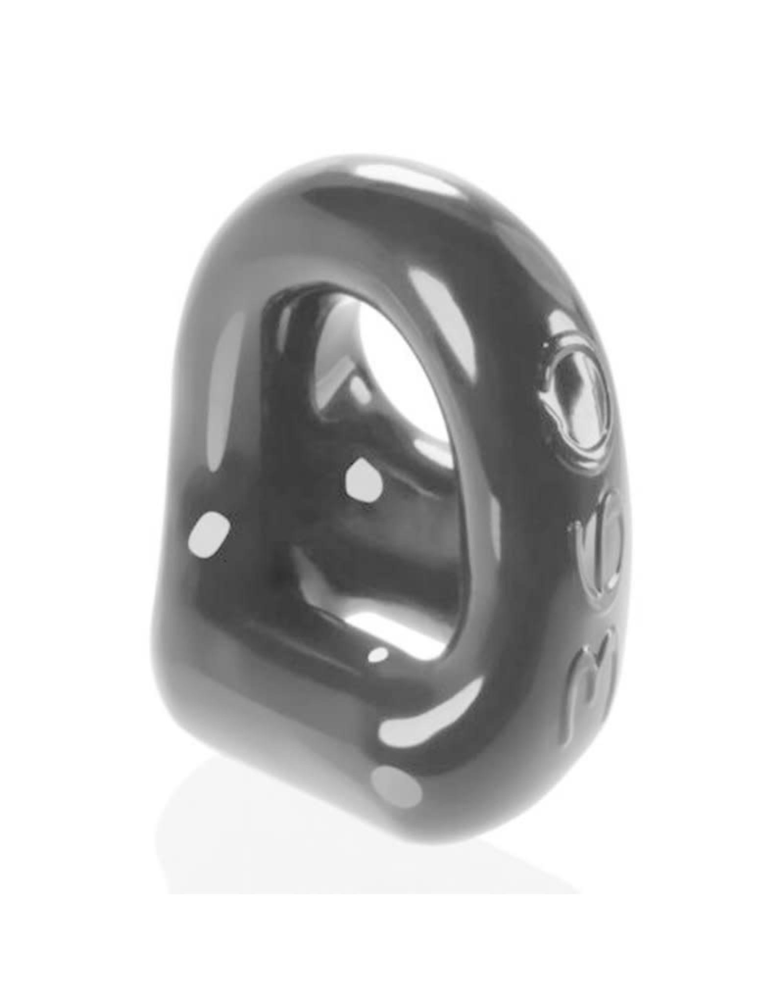 OXBALLS - 360 DUAL COCK RING & BALL SLING - BLACK