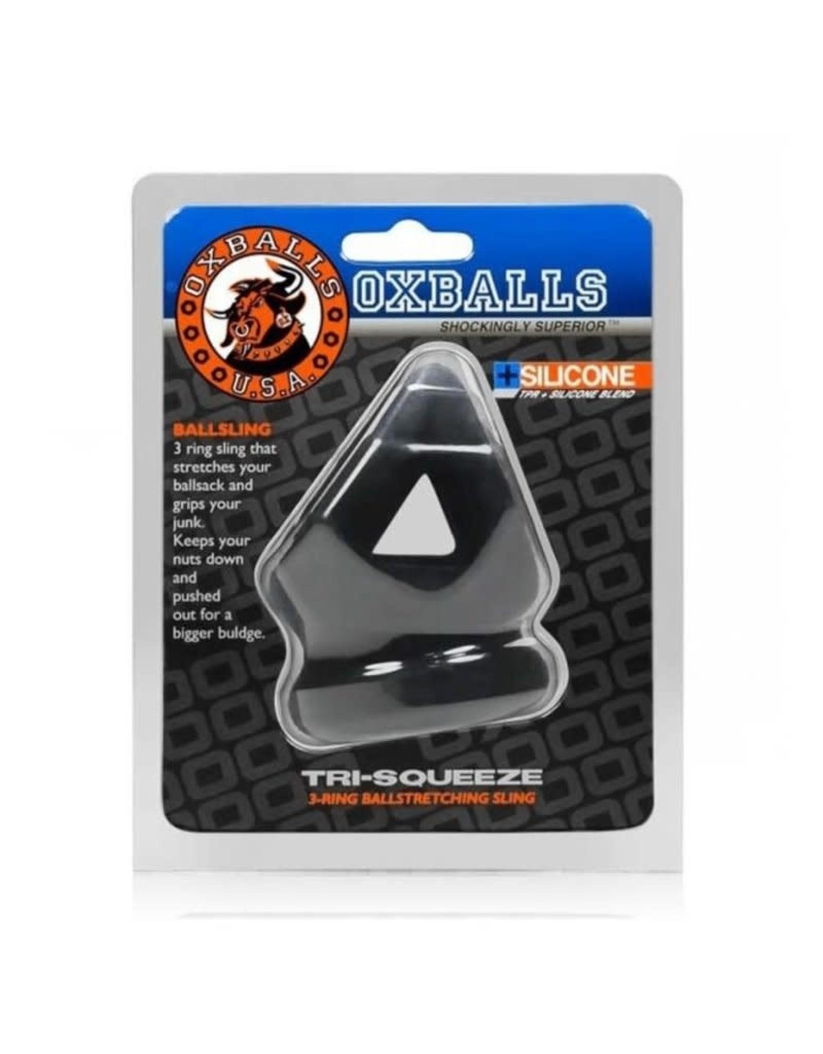 OXBALLS OXBALLS - TRI-SQUEEZE BALL SLING - BLACK