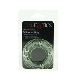 CALEXOTICS CALEXOTICS - STEEL BEADED SILICONE RING - X-LARGE