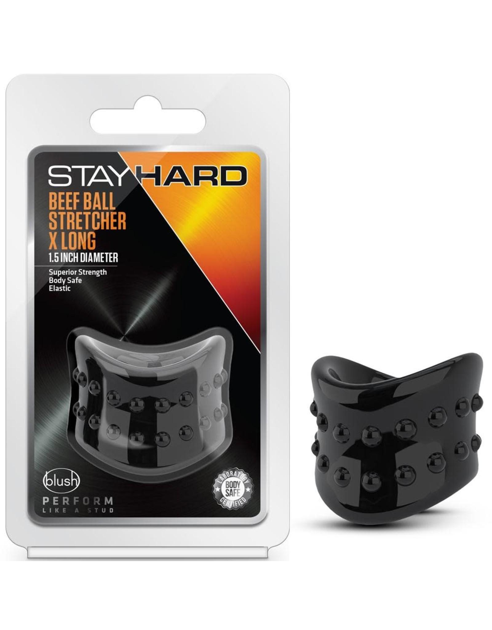 BLUSH BLUSH - STAY HARD - BEEF BALL STRETCHER X LONG - BLACK