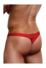ENVY - RED - LOW RISE THONG - M/L