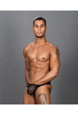 ANDREW CHRISTIAN - LATTICE LACE SHEER AROUSE THONG W/ ALMOST NAKED SMALL