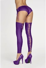 7 HEAVEN 7 HEAVEN - SEXY STOCKINGS WITH LACING AT THE BACK - L/XL