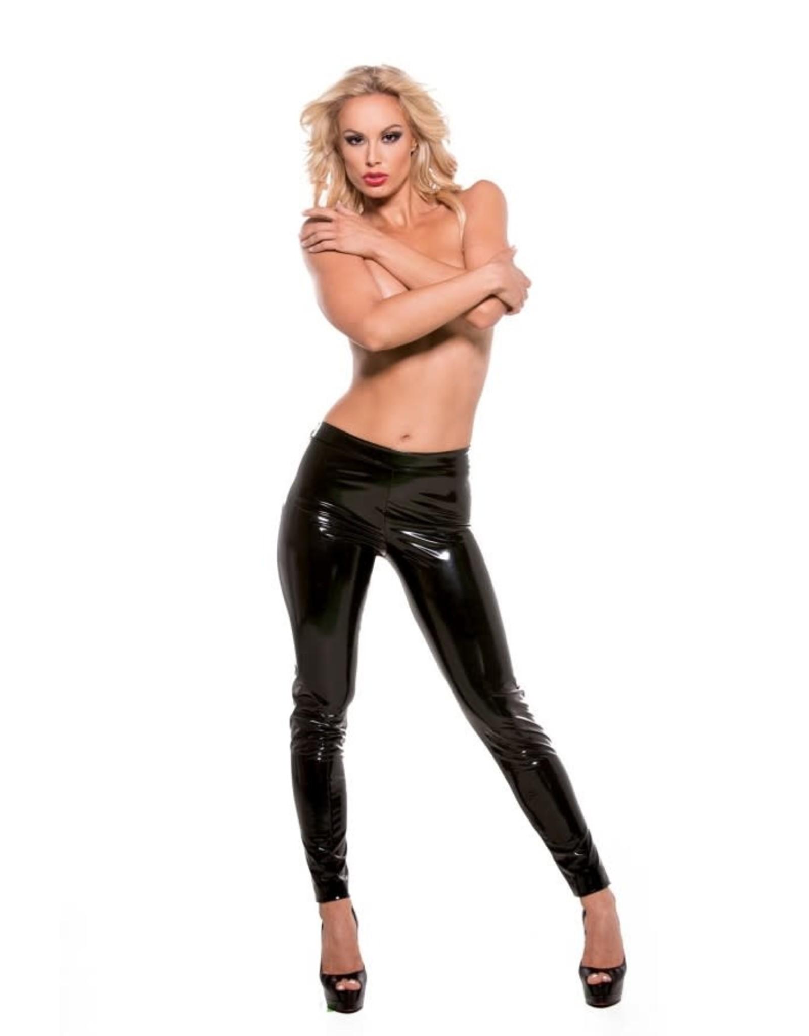ALLURE LINGERIE SEXY SKIN STRETCH PANTS L/XL - BLACK