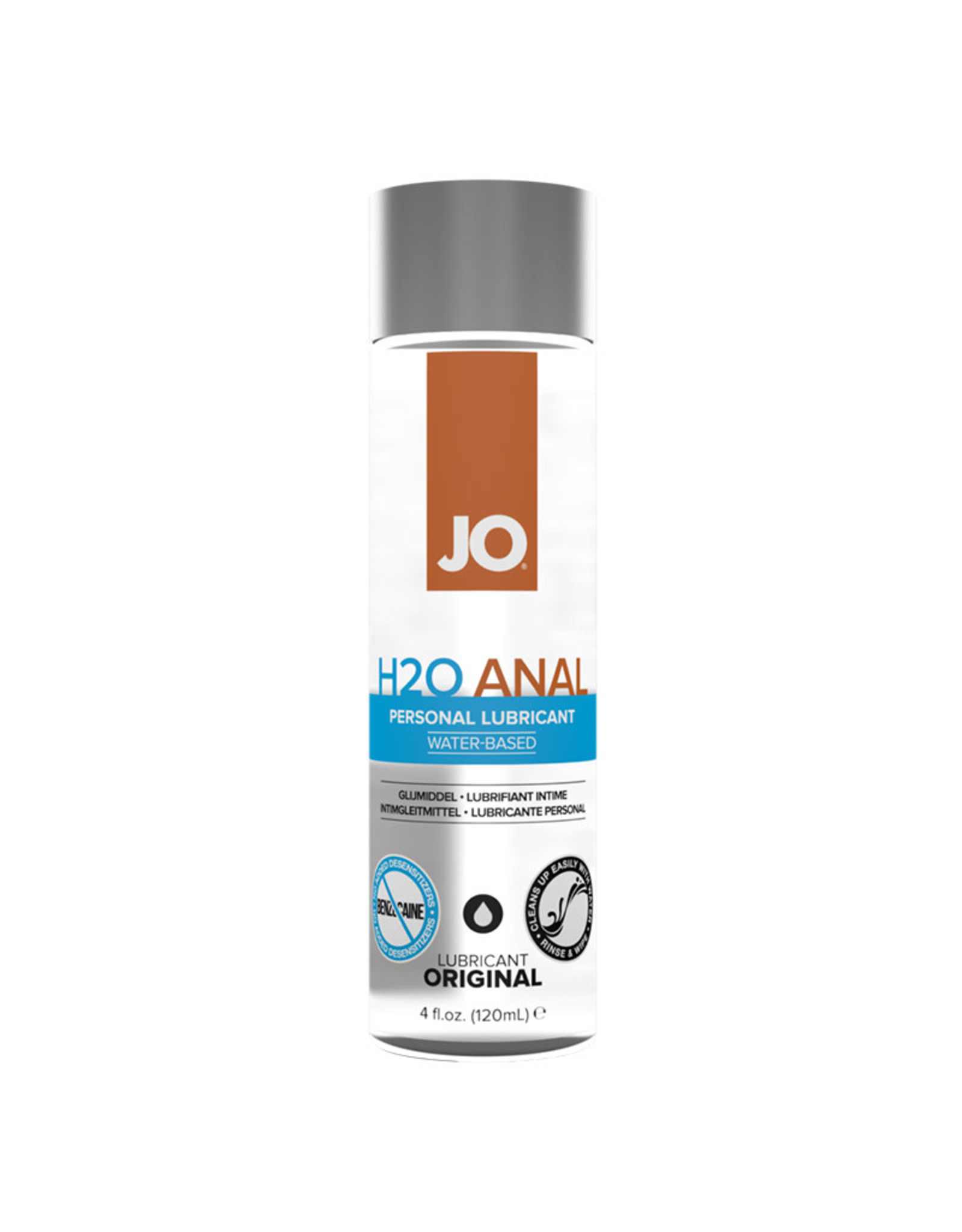 JO - H2O - ANAL LUBE - WATER BASED 4OZ