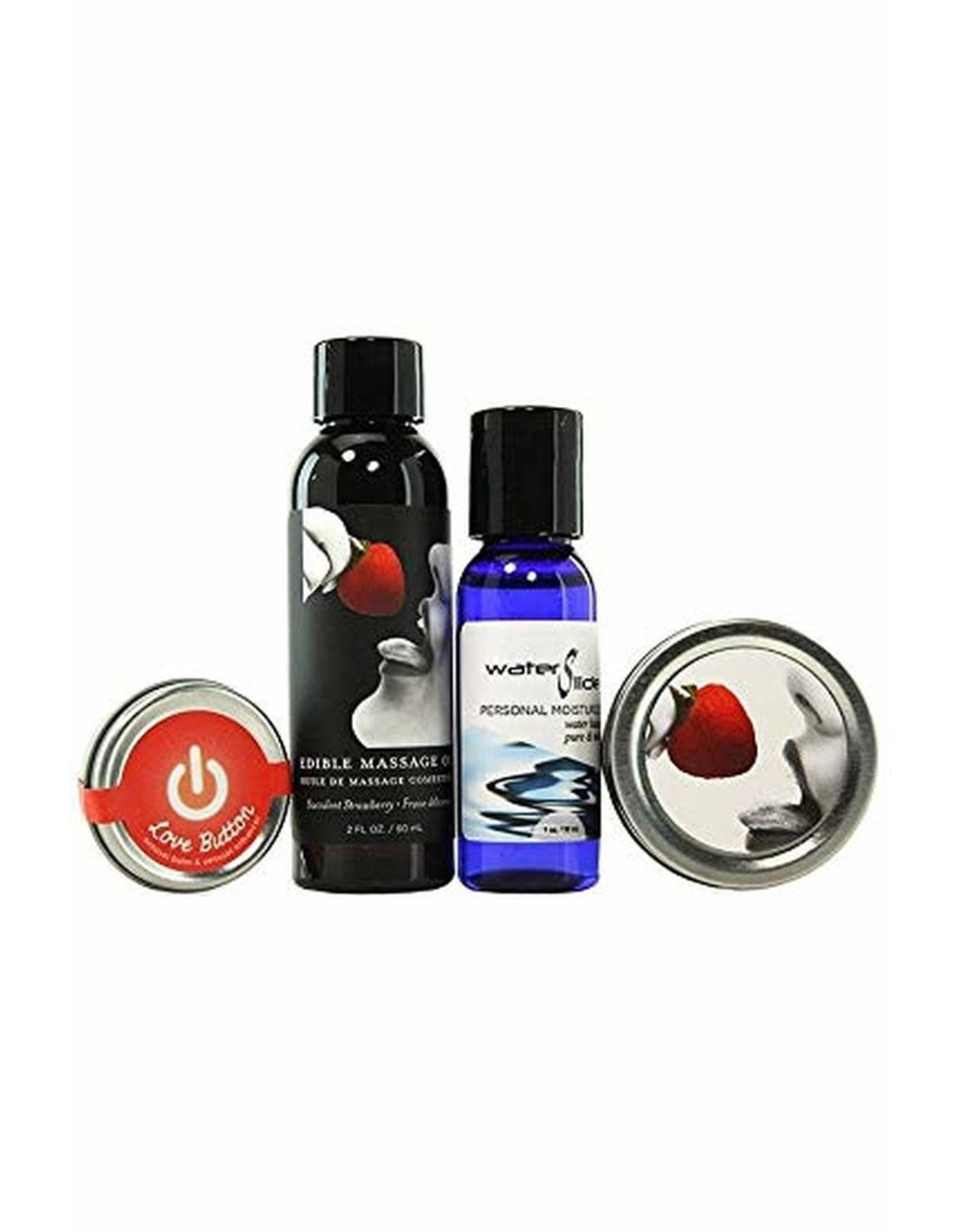 EARTHLY BODY EARTHLY BODY - HEMP SEED TASTY TRAVEL COLLECTION - STRAWBERRY