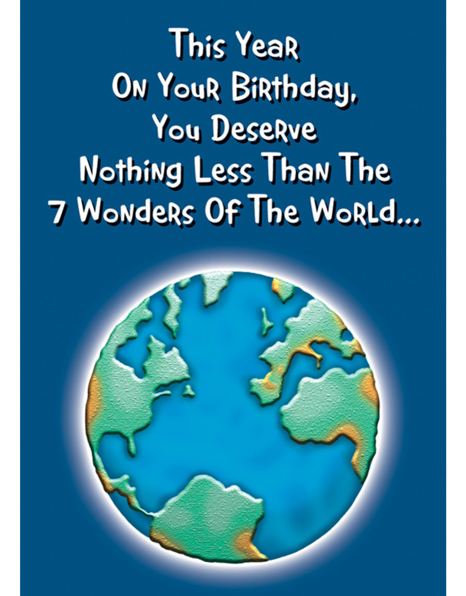 OZZE 7 WONDERS OF THE WORLD... CARD